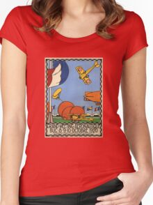 Vintage Travel Poster - 1920 French Airshow Women's Fitted Scoop T-Shirt