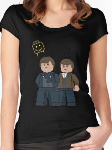 Lego Sherlock Women's Fitted Scoop T-Shirt