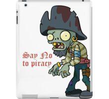 Plants vs Zombies  Say No To Piracy iPad Case/Skin