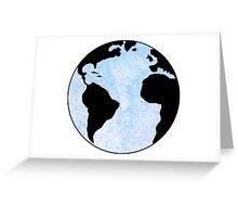 earth  blue Greeting Card