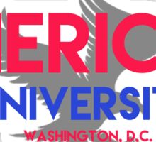 American university with eagle Sticker