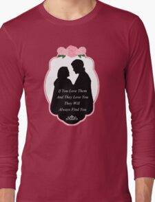 """Captain Swan """"They Will Always Find You"""" Silhouette Design  Long Sleeve T-Shirt"""