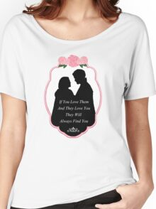 "Captain Swan ""They Will Always Find You"" Silhouette Design  Women's Relaxed Fit T-Shirt"