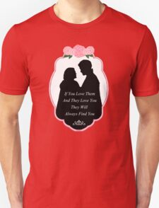 """Captain Swan """"They Will Always Find You"""" Silhouette Design  Unisex T-Shirt"""