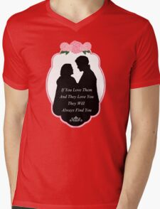 """Captain Swan """"They Will Always Find You"""" Silhouette Design  Mens V-Neck T-Shirt"""