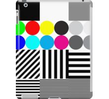 Extreme tone test pattern with colour iPad Case/Skin