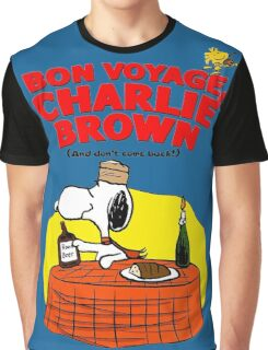 Snoopy : Bon Voyage, Charlie Brown ( And Don't Come Back! ) Graphic T-Shirt