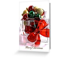 Merry Christmas - Gift Boxed Baubles Greeting Card