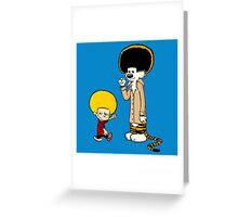Calvin & Hobbes : Afro Style Greeting Card