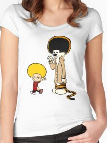 Calvin & Hobbes : Afro Style Women's Fitted Scoop T-Shirt
