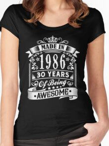 MADE IN 1986 Women's Fitted Scoop T-Shirt