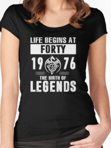 LIFE BEGINS AT 40 Women's Fitted Scoop T-Shirt