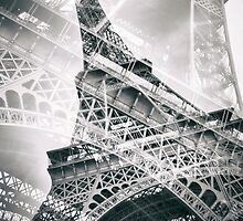 Eiffel Tower Double Exposure by Melanie Viola