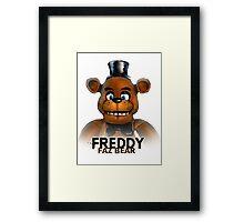 Freddy Faz Bear FNAF Framed Print