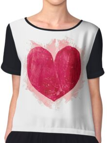Red heart Chiffon Top