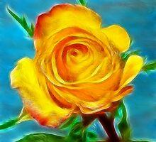 A yellow Rose . by ikshvaku