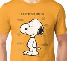 Snoopy : The Perfect Friend Unisex T-Shirt