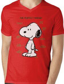 Snoopy : The Perfect Friend Mens V-Neck T-Shirt