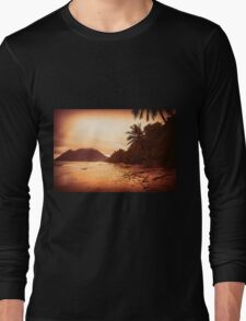 Sunset Sandy Beach Long Sleeve T-Shirt