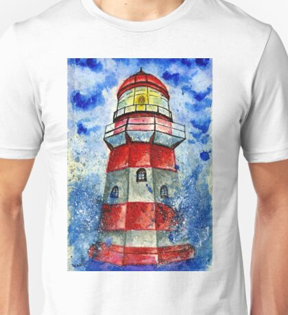 Lighthouse in the Storm 2 Unisex T-Shirt
