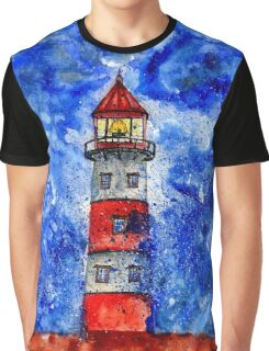 Lighthouse in the Storm 3 Graphic T-Shirt