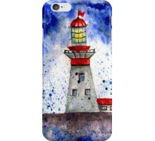 Lighthouse in the Storm 4 iPhone Case/Skin