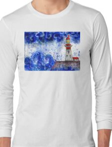Lighthouse in the Storm 4 Long Sleeve T-Shirt