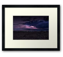 Stormy Queensland Sunset, Bargara Framed Print
