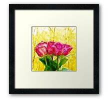 A bunch of Roses Framed Print