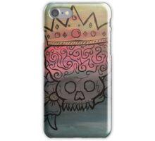 Crown Brain Skull with Flowers iPhone Case/Skin