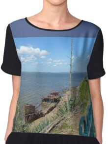 Shipwreck panorama Chiffon Top