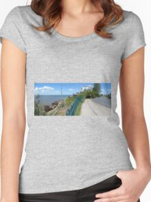 Shipwreck panorama Women's Fitted Scoop T-Shirt