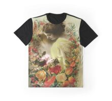 Lady with Flowers Graphic T-Shirt