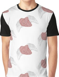 Heart Wings Color Graphic T-Shirt