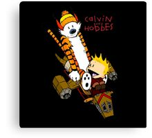 Calvin & Hobbes : Forever Young Canvas Print