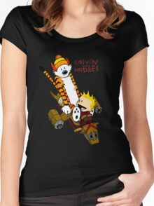 Calvin & Hobbes : Forever Young Women's Fitted Scoop T-Shirt