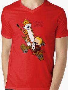 Calvin & Hobbes : Forever Young Mens V-Neck T-Shirt