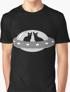 UFO cats Graphic T-Shirt