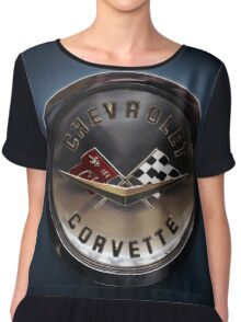 chevrolet corvette logo Chiffon Top