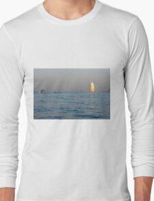 Photography of Burj al Arab hotel from Dubai seen from the sea. United Arab Emirates. Long Sleeve T-Shirt