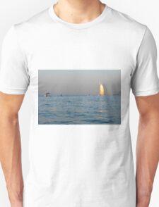 Photography of Burj al Arab hotel from Dubai seen from the sea. United Arab Emirates. Unisex T-Shirt