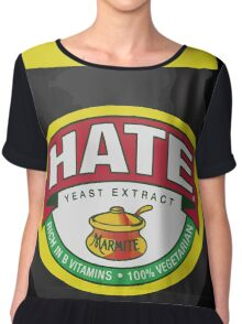 Marmite Hate Women's Chiffon Top
