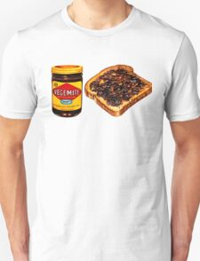Vegemite and Toast Pattern Unisex T-Shirt