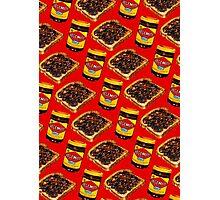 Vegemite and Toast Pattern Photographic Print