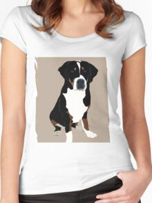 Greater Swiss Mountain Dog Women's Fitted Scoop T-Shirt
