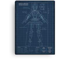 Orianna Robotic Blueprint Canvas Print