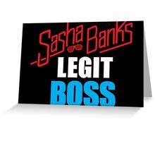 WWE Sasha Banks Main Event Retro Greeting Card