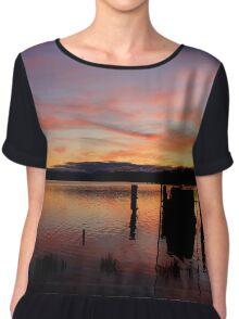 Sunset splendour Chiffon Top