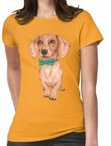 Dachshund, The Wiener Dog Womens Fitted T-Shirt