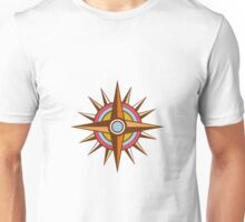 Vintage Compass Star Isolated Retro Unisex T-Shirt